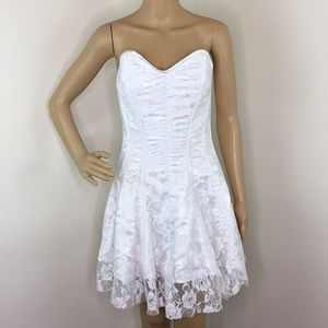 Daisy Corset White Corset Dress